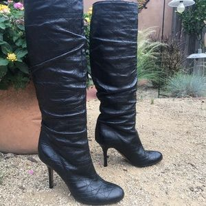Christian Dior Cannage Knee High Boots